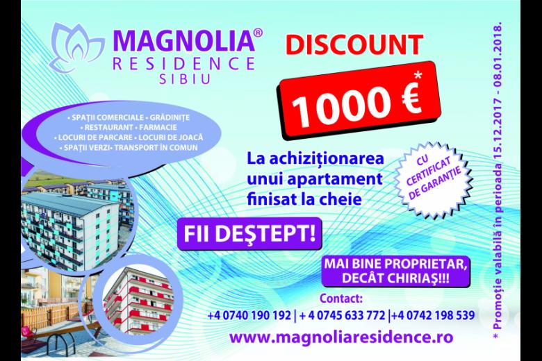 Oferta de sarbatori la Magnolia Residence Sibiu